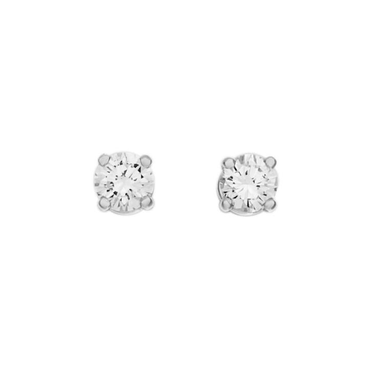 18K White Gold 0.45 Carat Diamond Stud  Earrings