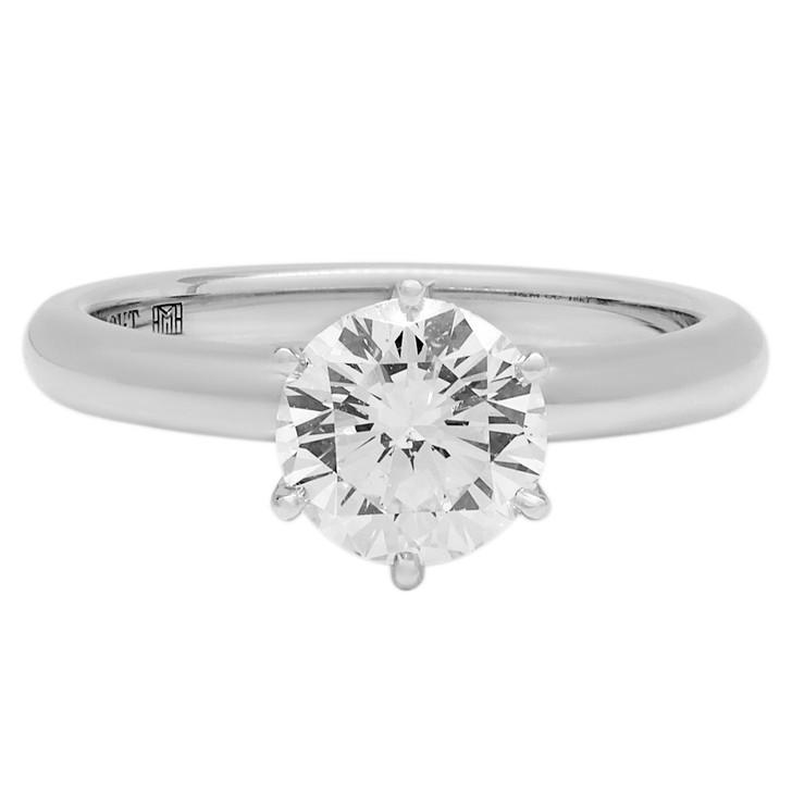 18K White Gold 1.25 Carat Diamond Solitaire Ring