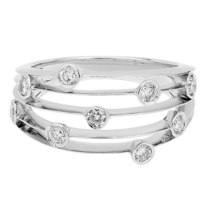 18K White Gold 0.27 Carat Diamond Ring