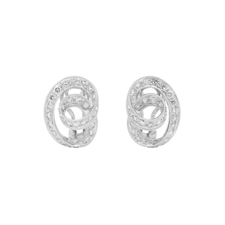 18K White Gold 0.65 Carat Diamond Earrings