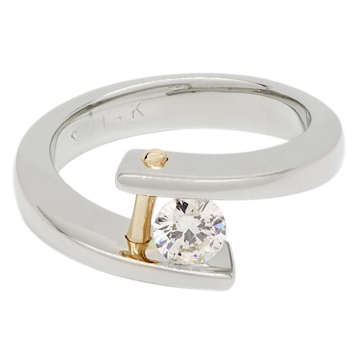 14K White Gold 0.25 Carat Diamond Solitaire Ring