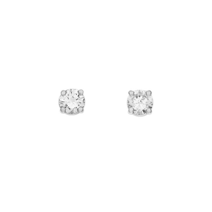 18K White Gold 0.42 Carat Diamond Stud Earrings