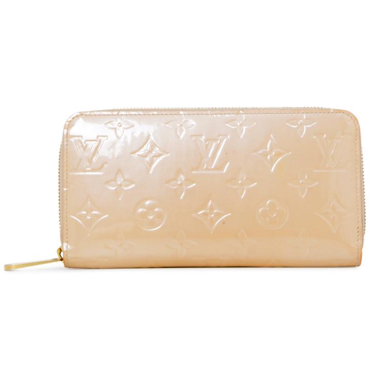 Louis Vuitton Beige Vernis Zippy Wallet