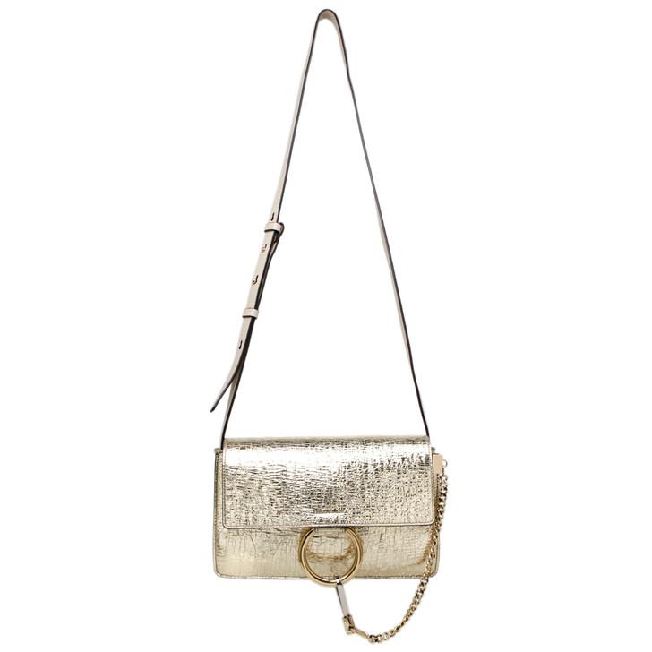 Chloe Gold Calfskin Small Faye Shoulder Bag