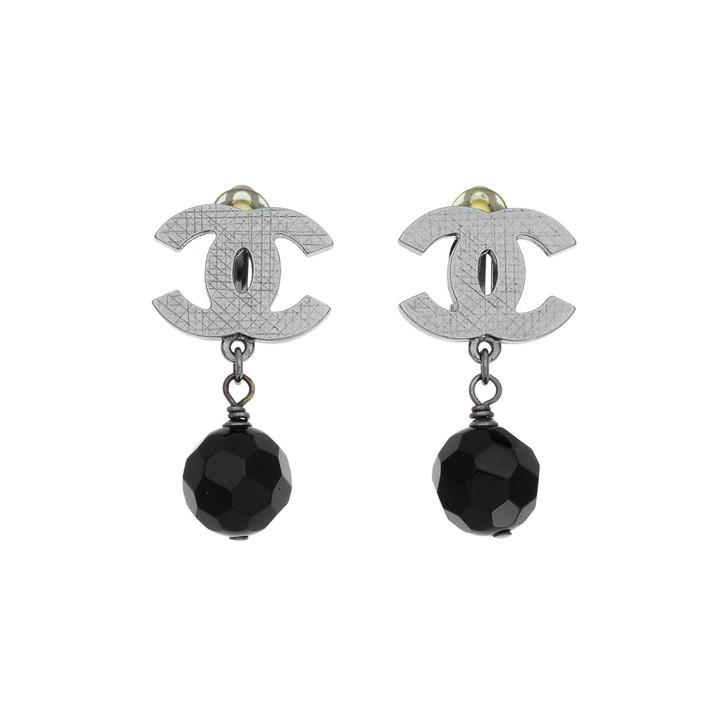 Chanel CC Drop Clip On Earrings