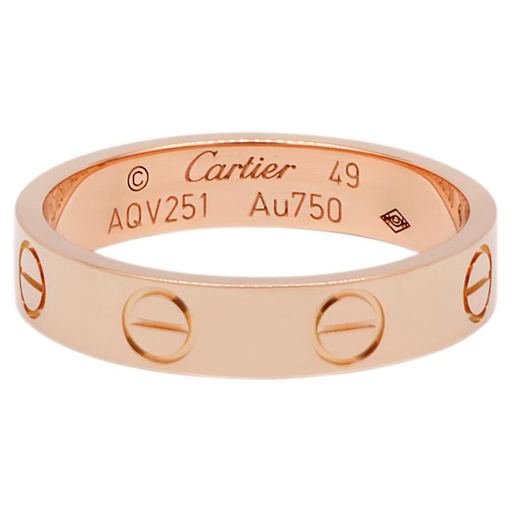 Cartier 18K Pink Gold Love  Wedding Band