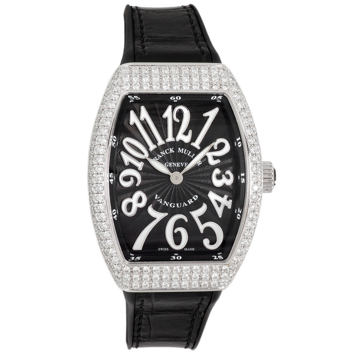 Franck Muller Stainless Steel & Diamond Vanguard Quartz Watch V32 QZ D