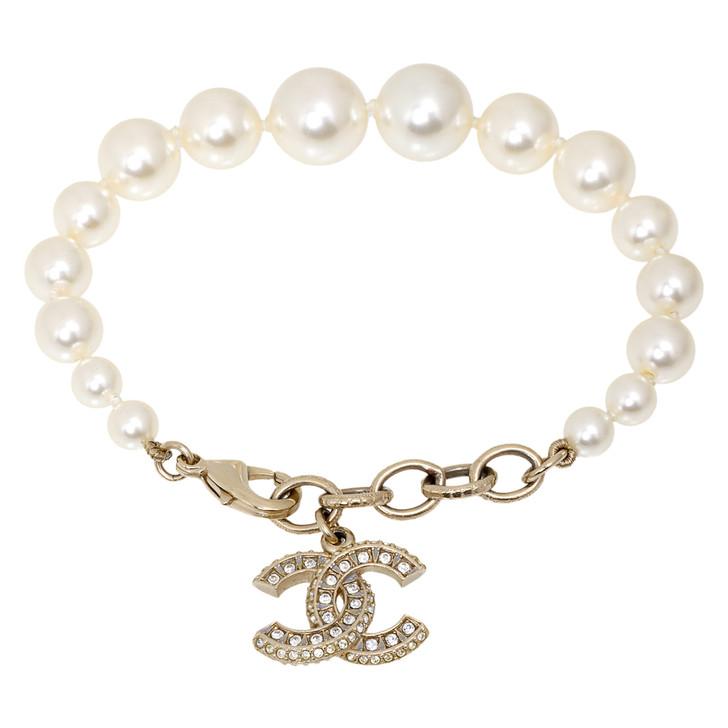 Chanel CC Crystal Pearl Bracelet