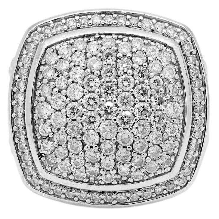 David Yurman Sterling Silver & Diamond 23mm Albion Ring