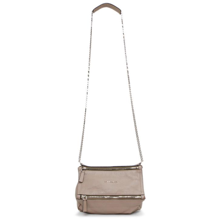 Givenchy Taupe Sugar Goatskin Mini Chain Pandora