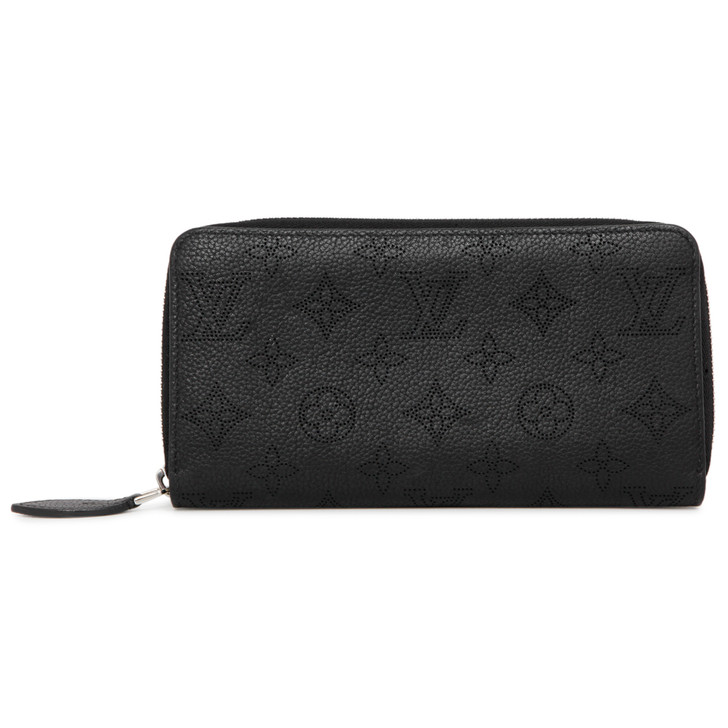 Louis Vuitton Black Mahina Zippy Wallet