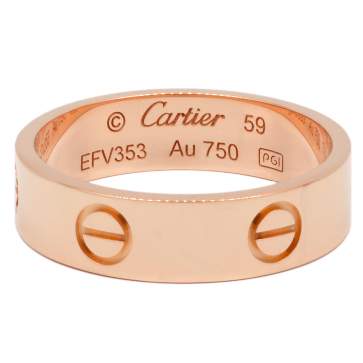 Cartier 18K Pink   Gold Love Ring