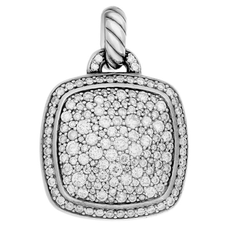 David Yurman Sterling Silver & Diamond 21mm Albion Pendant