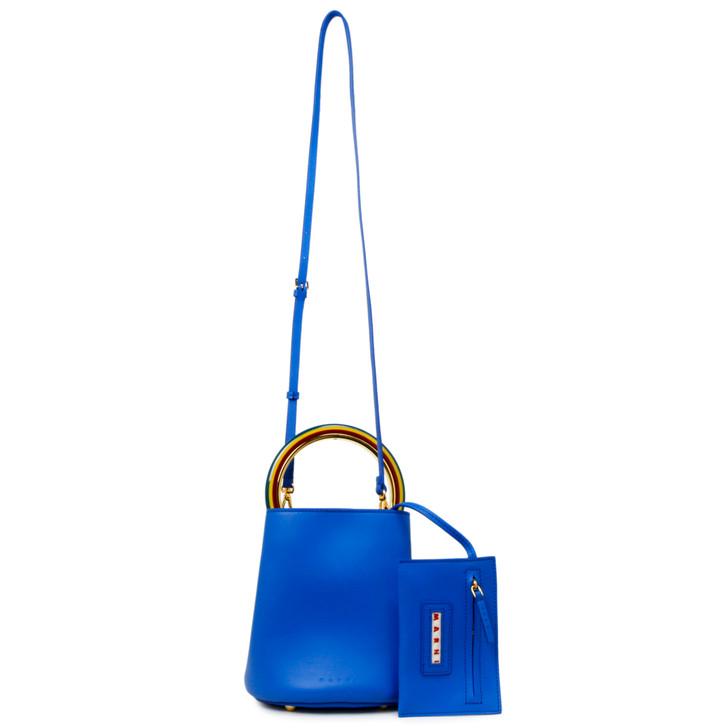 Marni Blue Calfskin Pannier Bag
