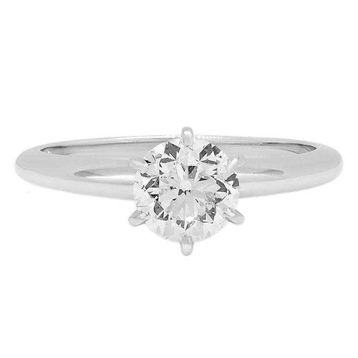 14K White Gold 1.00 Carat Diamond Solitaire Ring