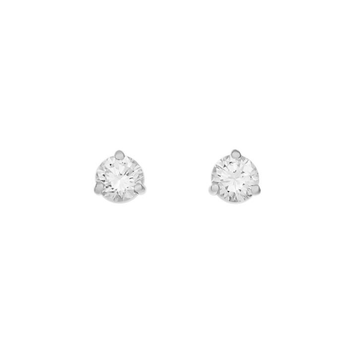 18K White Gold 0.90 Carat Diamond Stud Earrings