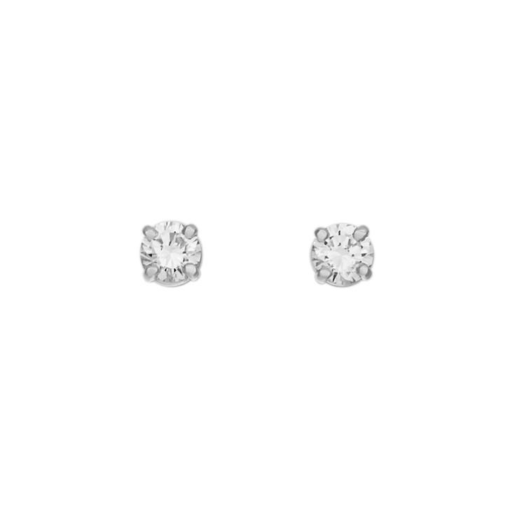 18K White Gold 0.44 Carat Diamond Stud  Earrings