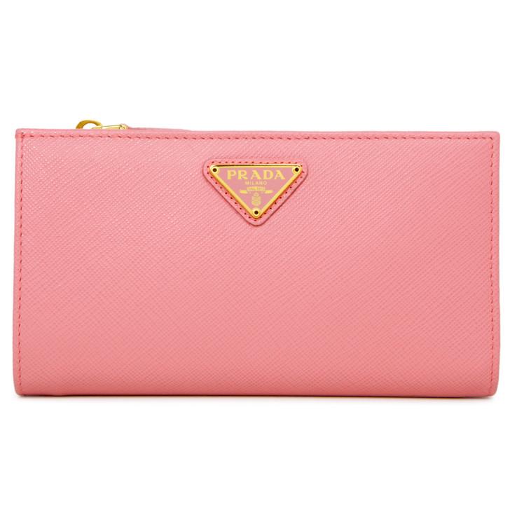 Prada Petal Pink Saffiano Bifold Wallet