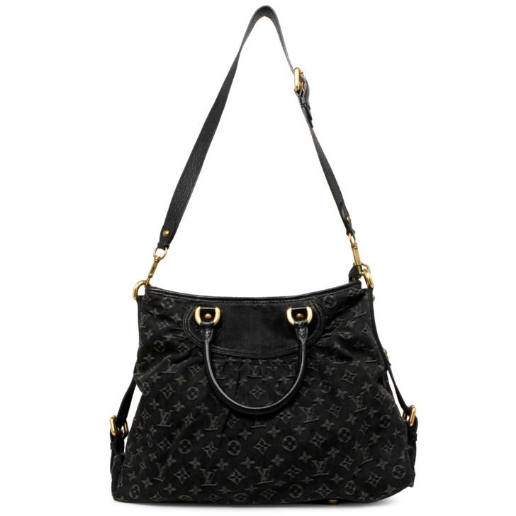Louis Vuitton Black Denim Neo Cabby GM