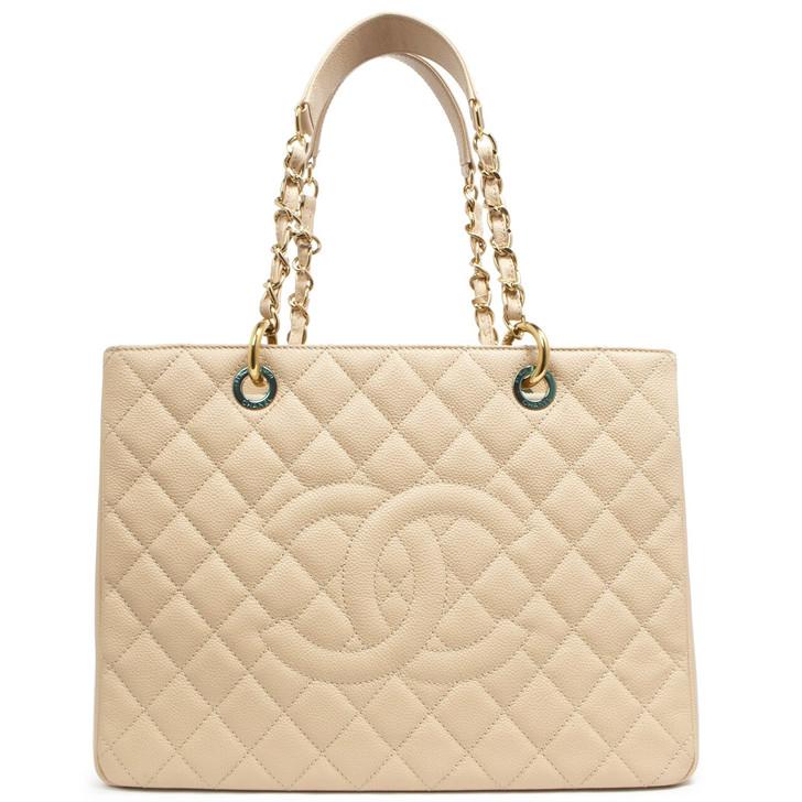 Chanel Beige Caviar Grand Shopping Tote  GST