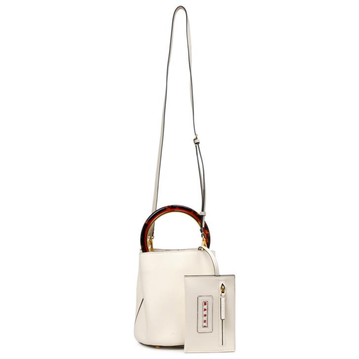 Marni Ivory Calfskin Pannier Bag