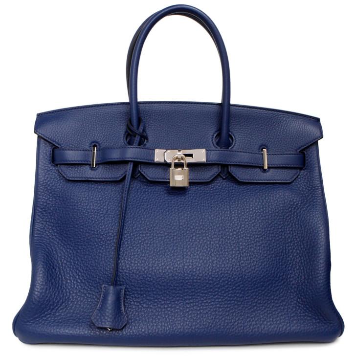 Hermes Bleu Abysse Clemence Birkin 35