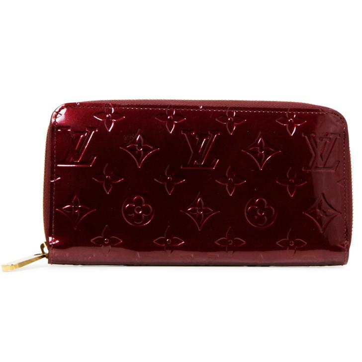 Louis Vuitton Rouge Fauviste Vernis Zippy Wallet