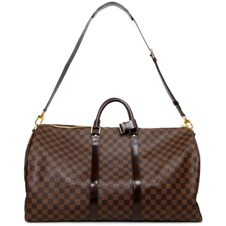 Louis Vuitton Damier Ebene Keepall Bandouliere  55
