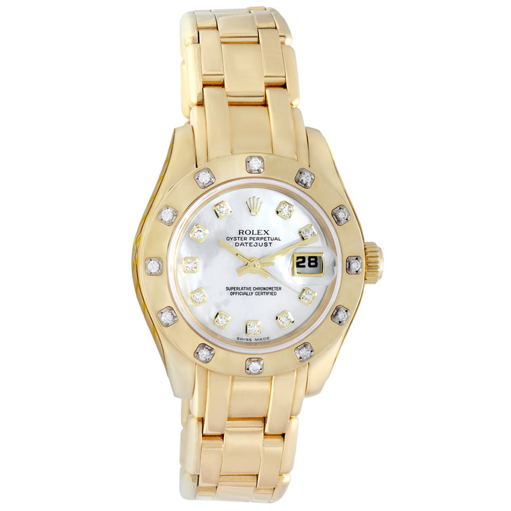 Rolex 18K Yellow Gold Datejust Pearlmaster  80318