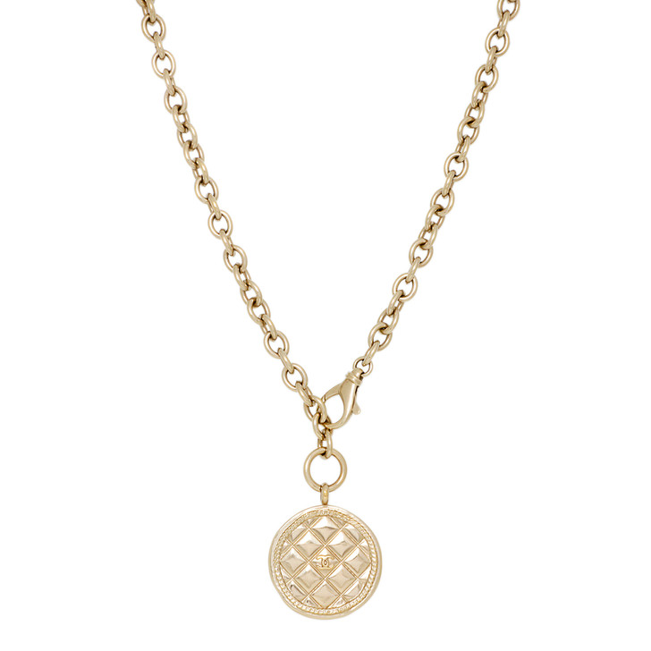 Chanel Quilted CC Medallion Pendant Necklace