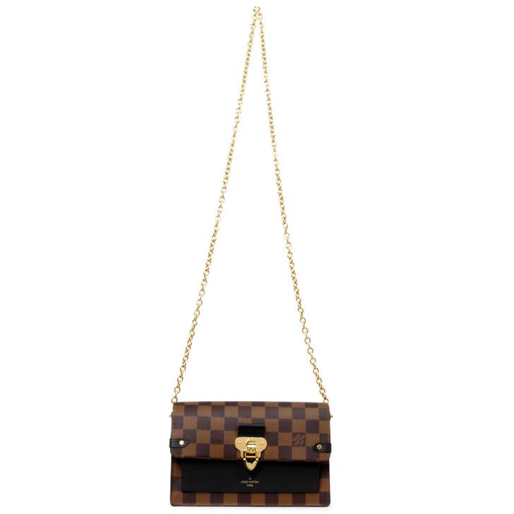 Louis Vuitton Damier Ebene Black Vavin Chain Wallet