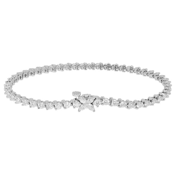 Tiffany & Co. Platinum Diamond Victoria Tennis Bracelet