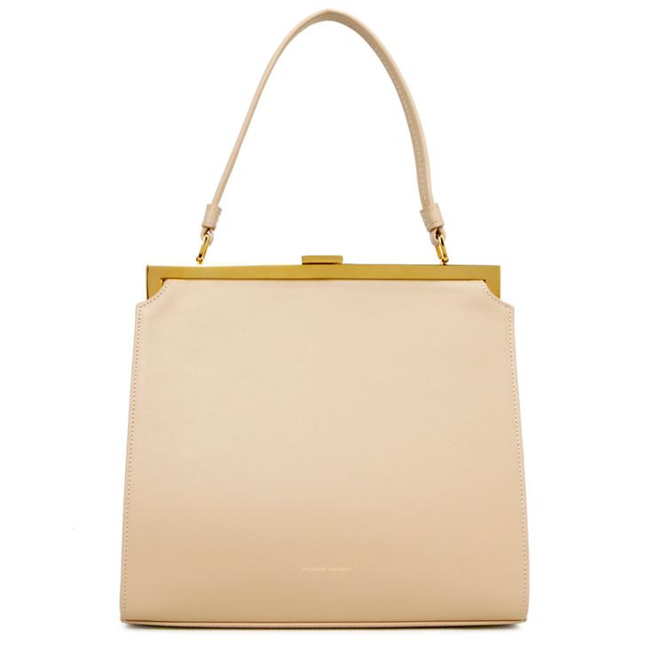 Mansur Gavriel Beige Calfskin Elegant Bag