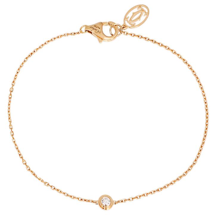 Cartier 18K Yellow Gold Diamants Legers Bracelet XS
