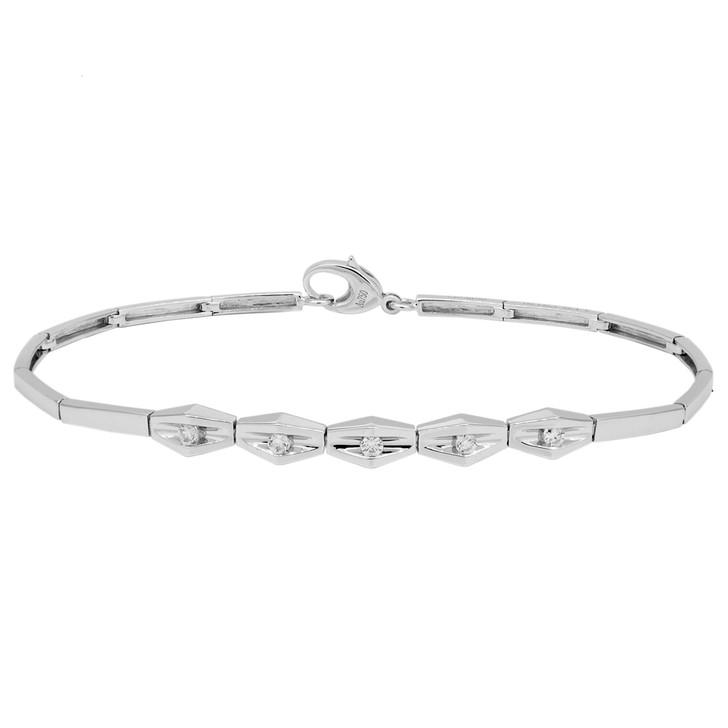 18K White Gold 0.14 Carat Diamond Bracelet