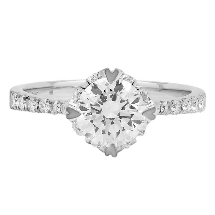 18K White Gold 1.01 Carat Diamond Ring