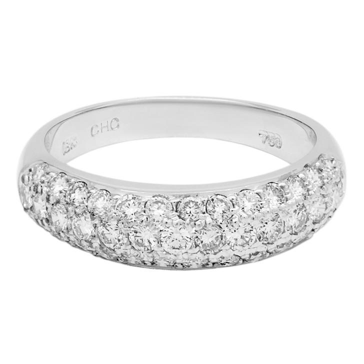 18K White Gold 0.70 Carat Diamond Band Ring