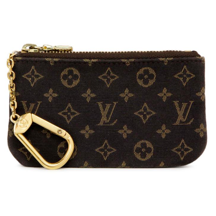 Louis Vuitton Fusain Monogram Idylle Key  Pouch