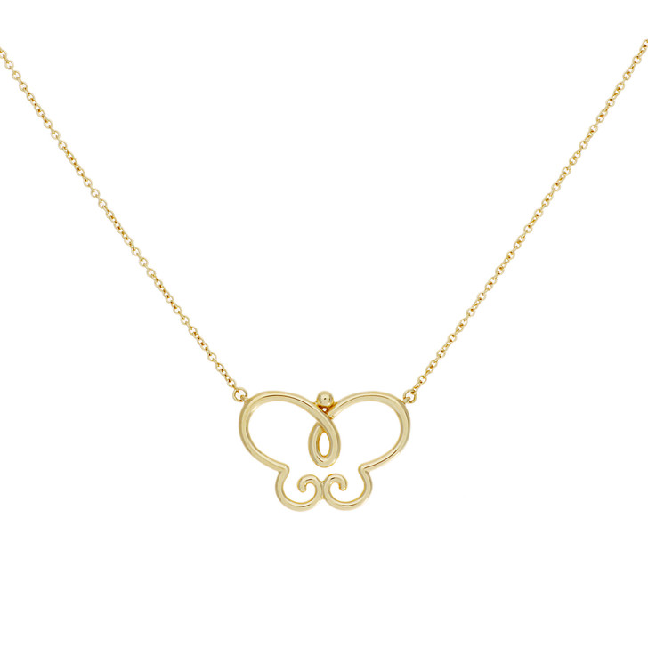 Tiffany & Co. 18K Yellow Gold Paloma Picasso Butterfly Pendant Necklace