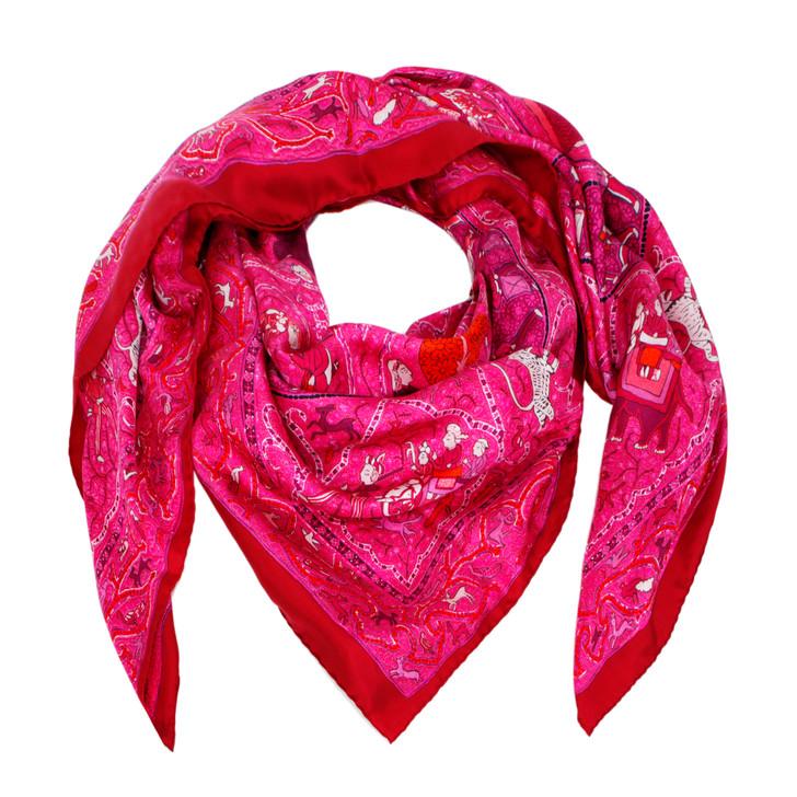 Hermes Silk Avec L'Aimable Autorisation du Lalbhai Dalpatbhai Institute of Indology Scarf 140