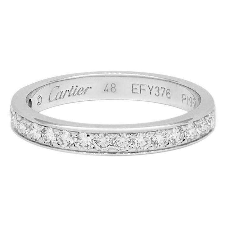 Cartier Platinum Diamond 1895 Wedding Band