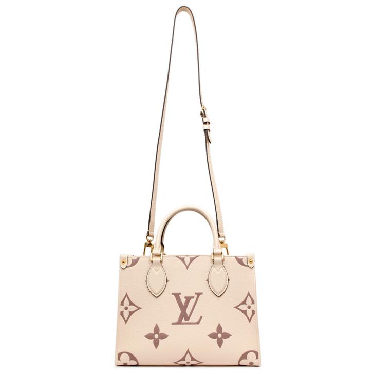 Louis Vuitton Cream/Rosewood Empreinte Monogram Giant Onthego PM