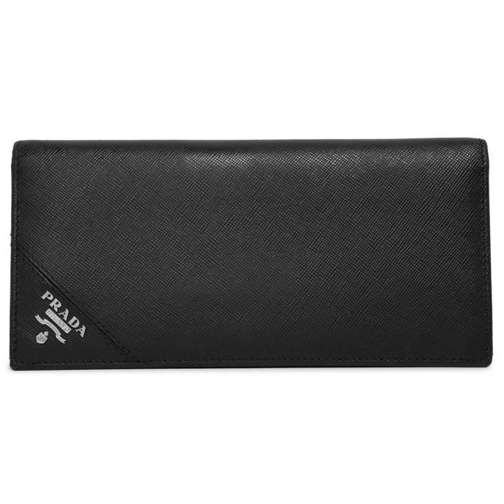 Prada Nero Saffiano Bifold Long Wallet