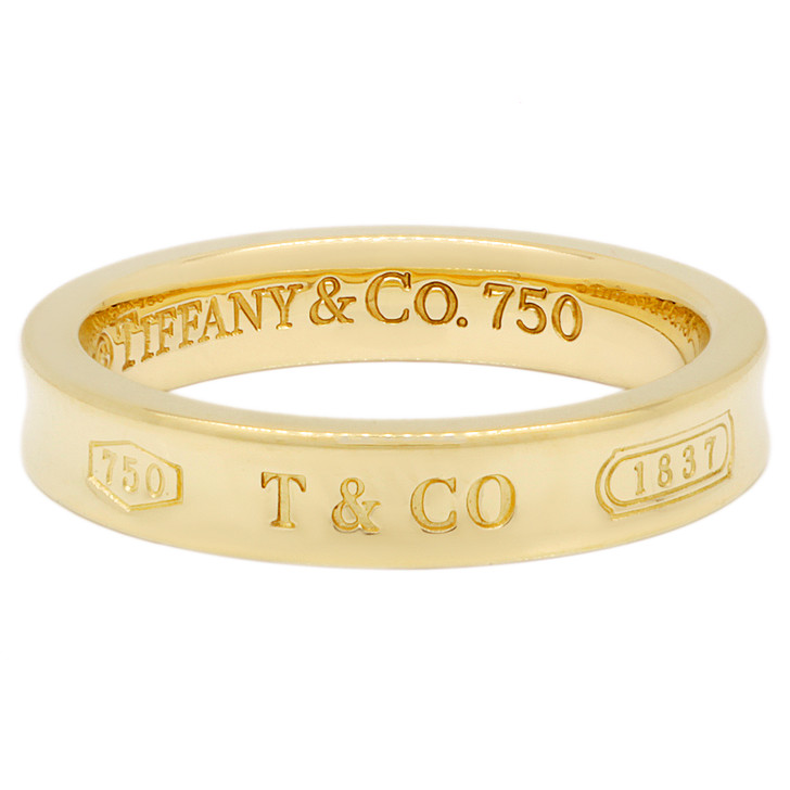 Tiffany & Co. 18K Yellow Gold 1837 Ring