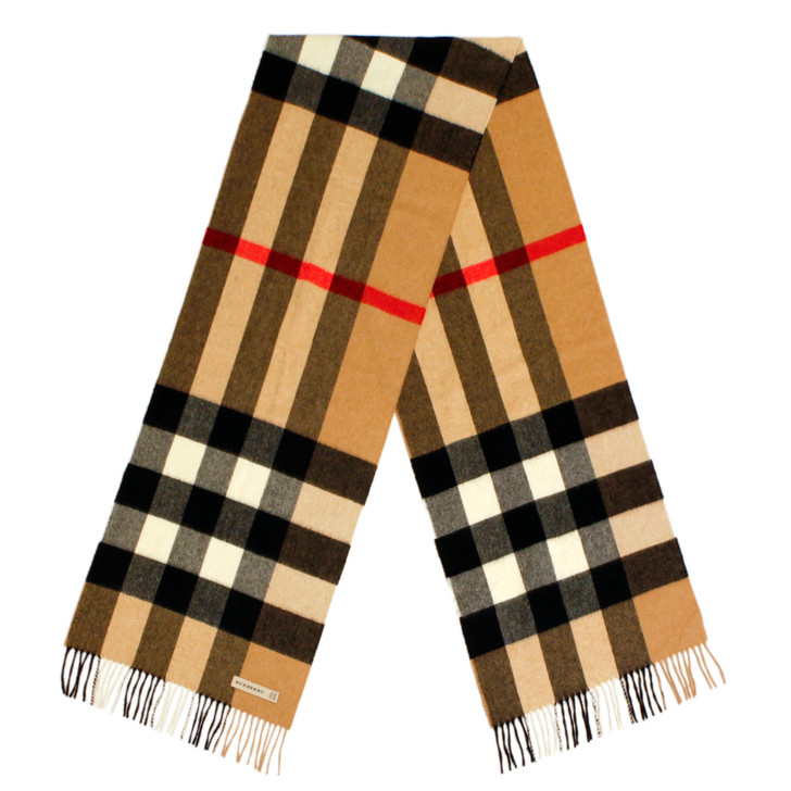 Burberry Cashmere Giant Check Scarf