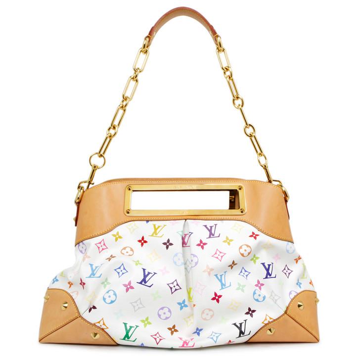 Louis Vuitton White Multicolor Judy GM