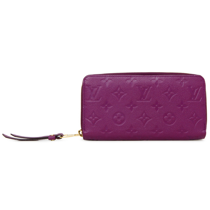 Louis Vuitton Amethyste Empreinte Zippy Wallet