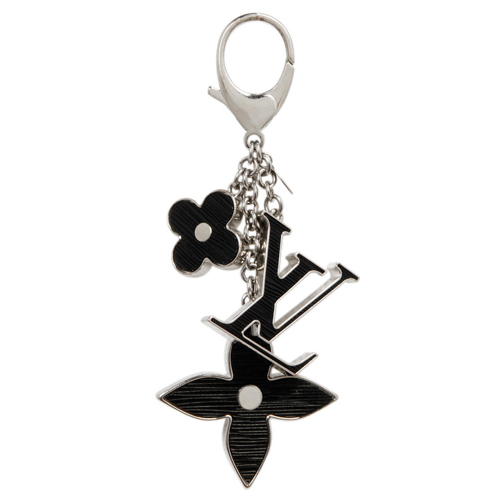 Louis Vuitton Black Fleur d'Epi  Bag Charm