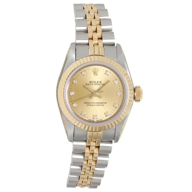 Rolex 18K & Stainless Steel Ladies Datejust 67193