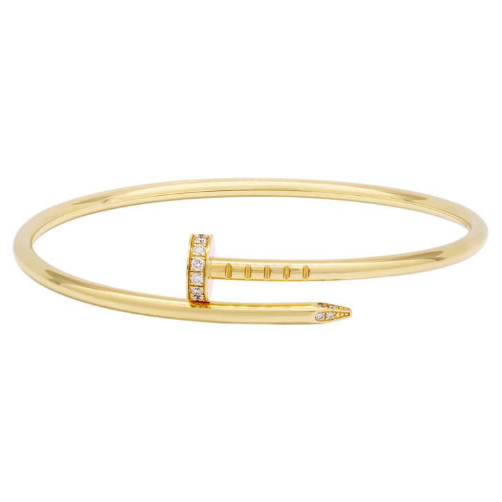 Cartier 18K Yellow Gold & Diamond Juste un Clou Bracelet